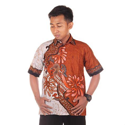 jual baju batik pria kemeja batik hem batik modern riyan warna 1 di lapak jogja batik