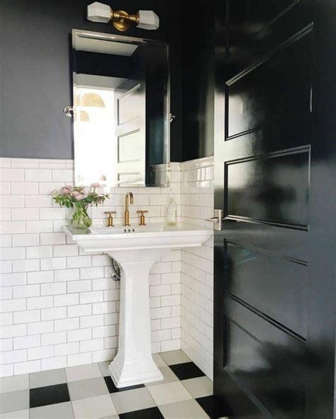 carrelage damier noir et blanc salle de bain photo salle de bain blanche deco noir carrelage
