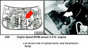 2002 Vw Passat Wagon 1 8t  Turbo  Need Diagram For Location Of Crankshaft Sensor And Camshaft