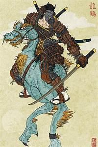 Samurai and his Chicken Dragon by Vergani on DeviantArt