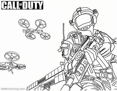 Duty Call Coloring Pages Drone Printable Stunt