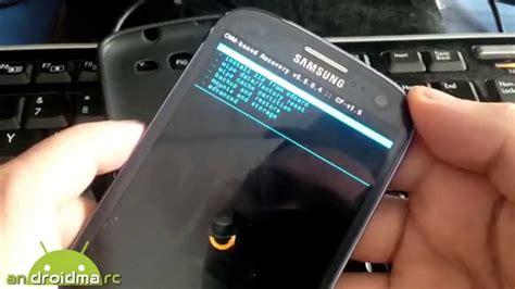como formatear cualquier android samsung galaxy siii tutorial paso  paso youtube
