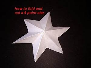 Diy How To Fold And Cut A 6 Point Star