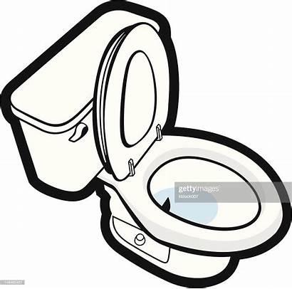 Toilet Vector Clip Flushing Clipart Restroom Graphics