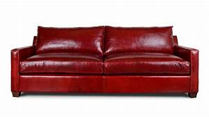 Cococohome brevard leather sleeper sofa made in usa for Deep red sectional sofa