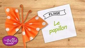 Pliage Serviette En Papier : pliage de serviette en papier en forme de papillon ~ Melissatoandfro.com Idées de Décoration