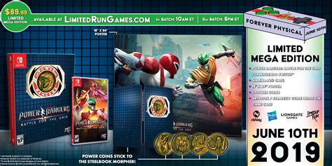 Limited Run Games Power Rangers Battle For the Grid ...