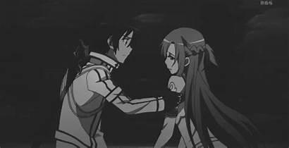 Anime Kiss Couple Kirito Gifs Manga Crying