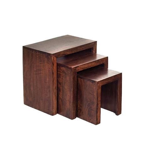 This vintage coffee table in stained mango wood will create a warm atmosphere in your living room. Dakota Mango Nest of 3 Tables   Furniture, Nesting tables, Coffee table