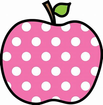 Apple Clipart Dot Clip Dotted Pink Polka