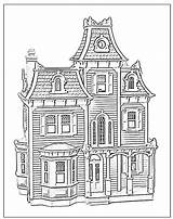 Coloring Pages Dollhouse Hill Victorian Houses Doll Adult Sheets Colouring Sheet Beacon Printable Colour Books Drawing Drawings Landscapes Haunted Pdf sketch template