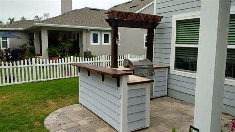 ana white outdoor bar grill surround   post pergola