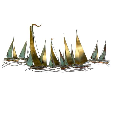 Sailboat Wall Decor Metal by Thank You For Being Sophisticated Gt Tyfbs