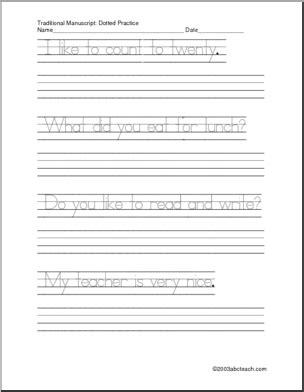 15 best images of sentence handwriting worksheets