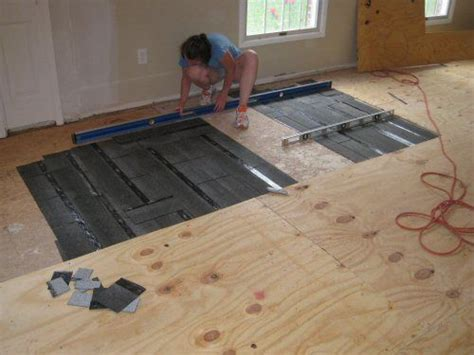 level  plywood  osb subfloor  asphalt