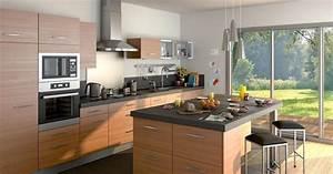 Prix D Une Cuisine équipée : modele de petite cuisine avec ilot central archives ~ Dailycaller-alerts.com Idées de Décoration