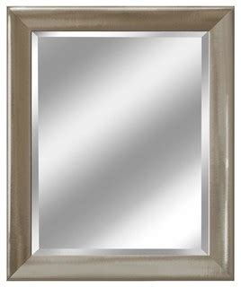 Brushed Nickel Mirror For Bathroom by Transitional Brushed Nickel Mirror 27 5 Quot X33 5