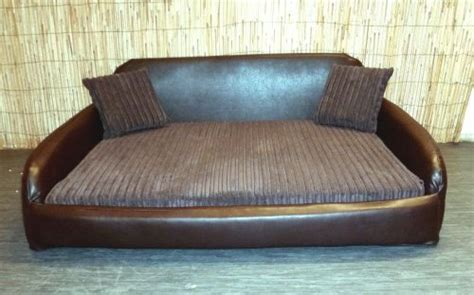 extra large dog sofa bed zippy faux leather sofa pet dog bed extra large brown