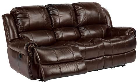 flexsteel leather reclining sofa flexsteel latitudes capitol power reclining sofa with