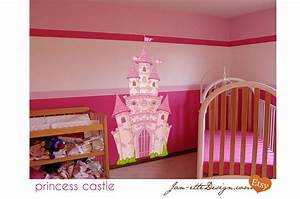 pink princess castle fabric wall decal castle wall decal With castle wall decals