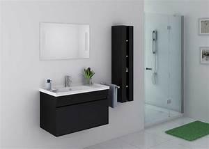 Meuble De Salle De Bain Solde : ensemble de salle de bain noir meuble de salle de bain ~ Teatrodelosmanantiales.com Idées de Décoration