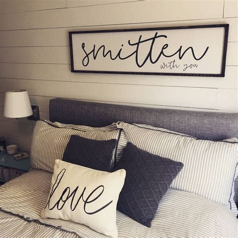 Bedroom Phrases by Smitten With You Above The Bed Sign Free Shipping 2019