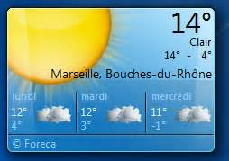 meteo sur le bureau windows 7 afficher un gadget horloge sur le bureau de windows 7