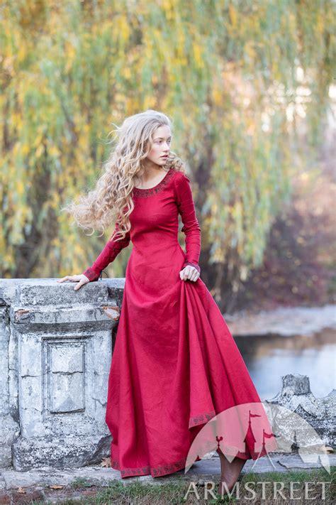 fantasy linen dress autumn princess  sale