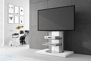 Fernsehtisch Weiß Hochglanz : design fernsehtisch roma h 777nw wei hochglanz 360 drehbar tv m bel tv rack lcd inkl tv ~ Yasmunasinghe.com Haus und Dekorationen