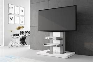 Tv Rack Drehbar : design fernsehtisch roma h 777nw wei hochglanz 360 drehbar tv m bel tv rack lcd inkl tv ~ Frokenaadalensverden.com Haus und Dekorationen