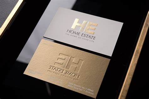 Design Business Cards Free Print Home by Creative Luxury Real Estate Business Card With Gold
