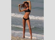 Abbey Clancy shows off her bikini body in sexy black
