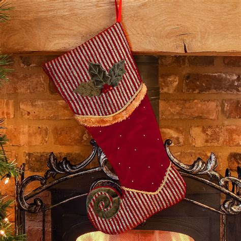 luxury velvet elf christmas stocking by dibor