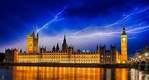 Photos London Big Ben England United Kingdom Lightning Sky