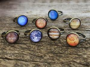 Cabochons – Planet Ring, Solar System Ring, Space Ring – a ...