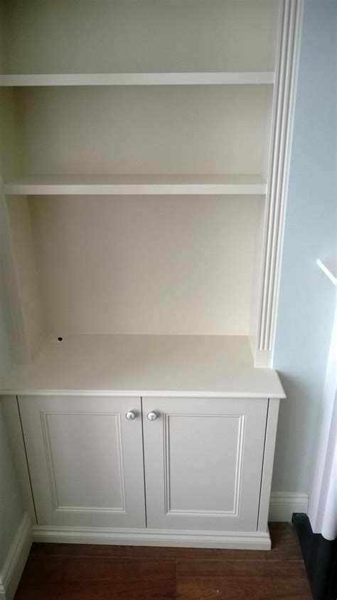 Diy Fitted Living Room Cupboards by Fitted Alcove Cupboards And Shelves Molding On Sides And