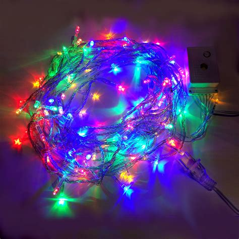 7 99 rgyb 10m 8 mode led string lights fairy lights