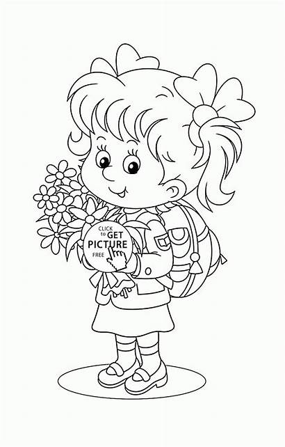 Coloring Pages Printable Preschool Schoolgirl Printables Wuppsy