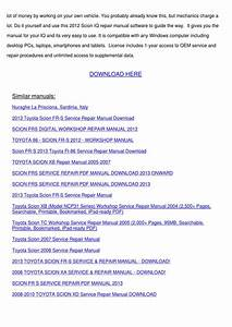 2012 Scion Iq Service Repair Manual Software By Kirkhuang