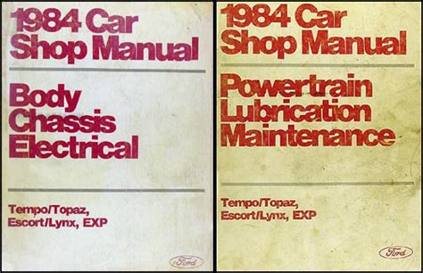 1987 ford shop manual set escort lynx exp tempo topaz 87 mercury service repair ebay 1984 tempo escort exp topaz and lynx repair shop manual original set