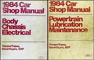 1984 Ford Tempo And Mercury Topaz Repair Shop Manual Original