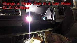 How To Change A Heater Core On A 1994 Chevy S