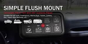 Universal Car Off Road Light Rocker Switch Panel