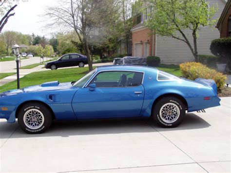 1978 Blue Trans Am by 1978 Trans Am Martinique Blue W72 4 Speed 26000