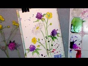 How to paint wildflowers in watercolor easy tutorial