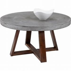 Weißer Runder Couchtisch : couchtisch aus beton eine extravagante idee ~ Lateststills.com Haus und Dekorationen