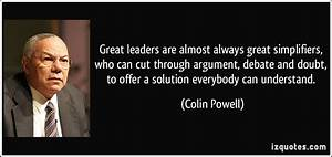 Colin Powell Leaders Great