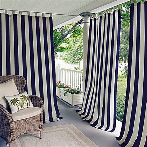 outdoor drape elrene highland stripe indoor outdoor tab top window