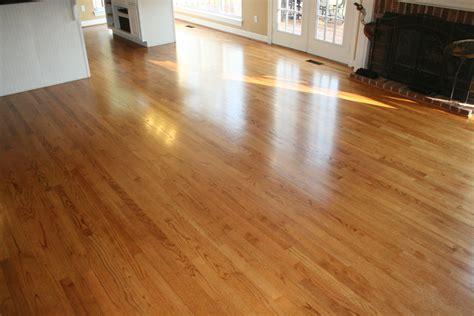 """my Floors Are New Again!""  Buff & Coat Hardwood Floor"