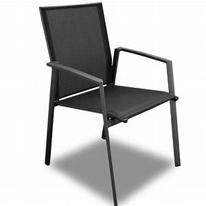 Chaise Et Fauteuil De Jardin : fauteuil de jardin sparta alu et textil ne coloris grey noir proloisirs ~ Teatrodelosmanantiales.com Idées de Décoration